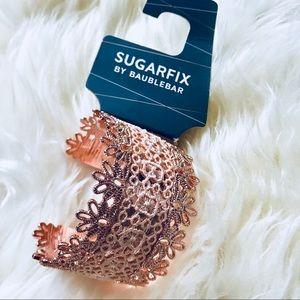 *5 FOR $25* Sugarfix Lace Rose Gold Cuff Bracelet